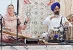Dr. Cassio and Parminder Singh Bhamra, performing at the Glen Cove Gurdwara on Vaisakhi day 2016
