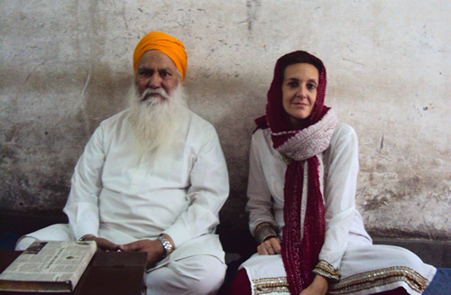 Picture 4 - Dr. Francesca cassio with the late Principal Dyal Singh (Rakab Ganj, New Delhi)