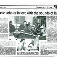 India Abroad, July 13 2012 – A music scholar in love with the sounds of India
