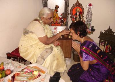 Dr. Francesca Cassio with Girija Devi