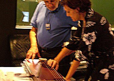 Luis Bacalov with Dr. Francesca Cassio
